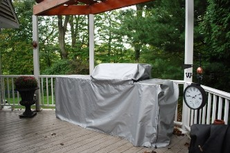 Island grill cover